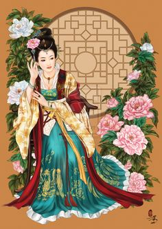 peony in the window by on DeviantArt Japanese Quilts, Japanese Art, Chinese Painting, Chinese Art, Japanese Painting, Buddhist Symbols, Art Asiatique, Photo Canvas, Beauty Art