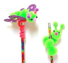 Pom-pom Pencil Toppers