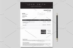 Invoice Template (3 colours) by Design Shop on @creativemarket