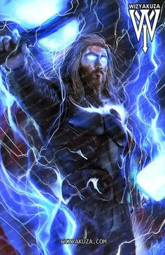 Thor Endgame By Wizyakuza Marvel Dc Comics, Marvel Art, Marvel Heroes, Marvel Movies, Marvel Avengers, Serie Marvel, Thor Wallpaper, Asgard, Mundo Marvel