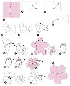 Origami da flor de cereja , Passo 1