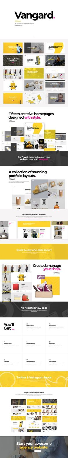 Vangard - A Theme for Freelancers and Agencies Portfolio Layout, Creative Portfolio, Google Maps Icon, Project Presentation, Portfolio Presentation, Wordpress Landing Page, Viral Marketing, Digital Marketing