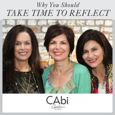 "#CAbi - Read today's ""Women on Purpose"" blog post and find out how beneficial devoting time to reflect and think deeply is to you and those around you. #inspiration #women"