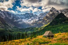*🇵🇱 Shepherds' hut in the Gasienicowa Valley (High Tatra Mountains, Poland) by Tomasz Siniczyn on Tatra Mountains, Shepherds Hut, Mountain Photography, Beautiful Scenery, Homeland, Mount Everest, Tours, Adventure, World