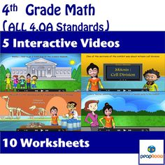 Engage and excite your students while introducing/reviewing the concept of operations and algebraic thinking.   It covers animations themed on field trip to science museum. Its an ultimate fun bundle for your kids packed with lots of important concepts they need to learn.   *Topics: Multiplicative comparison, multiplicative Vs additive comparison , rounding , operations on whole numbers , factors of whole numbers , prime Vs composite numbers , analyzing number patterns.  #math #ccss #4.oa