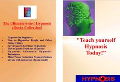 Hypnosis Ultimate 6 in 1 Collection. Mind power Seduction included. Free Mind, Mind Power, Sacred Geometry, Free Ebooks, Mindfulness, How To Get, Teaching, Recipes, Collection