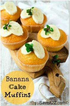Yummy Banana Cake Muffins!  Taste like can but made into muffins!  yummo!
