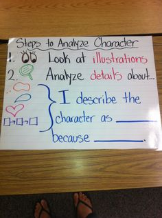 first grade common core-steps for analyzing characters