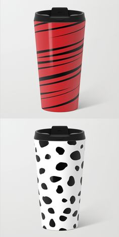Creative Travel Mugs and more, only in my Society6 store. #mug #travel #coffee #tea #home #decor #lines #stripes #pattern #dog #animals #spots #dots #pet #puppy #Dalmatian #scribble #doodle #modern #creative #red #black #white #abstract #buyart #society6 #gift #giftideas