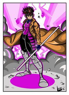 Gambit - Xmen Classic by GuiggsDrawing