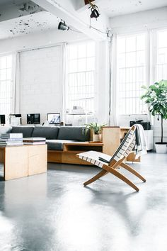Everlane's office is a white heaven