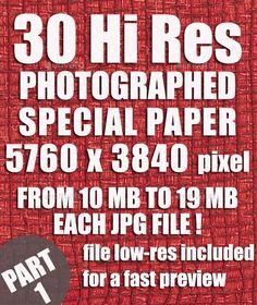 30 Hi-Res Top Pack Paper Backgrounds Part 1