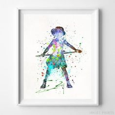 Princess Mononoke Print Type 3 Watercolor Art by InkistPrints Watercolor Artwork, Watercolor Print, Watercolor Illustration, Dorm Art, Princess Mononoke, Ghibli, Wall Art Prints, Printer, Etsy