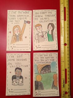 Hunger Games Valentines Part Two by flowbeee on Etsy