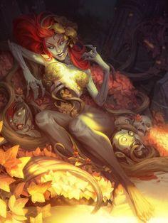 Undead Poison Ivy, Sasha Tudvaseva on ArtStation at https://www.artstation.com/artwork/2O4Xe