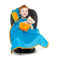 Trunki SnoozHedz Blue Meet Bert the blue SnooziHedz ! The 3-in-1 travel pal , pillow and blanket is the ultimate travel essential for the car, plane, train or even a space ship! The cute character simply unzips to reveal an inflatable insert for the pillow and a plush fleece blanket , ensuring little ones are comfy and warm from head to toe.