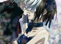 Zero and Yuki at masquerade (Vampire Knight)