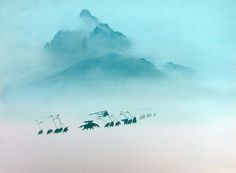 "Visual development for Disney's ""Mulan"" by Hans Bacher."