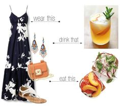 Sweetie Pie Style: Saturday's Dress, Drink, Dine If only every outfit came with a drink haha