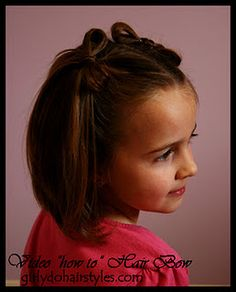 Cute hair bows out of your hair.