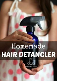 Are there tears over tangles in your house? Here are three detangler spray recipes that are inexpensive and simple to make. Natural DIY detanglers are easier than you might think - you probably already have all the ingredients you need to make recipe Homemade Beauty, Diy Beauty, Homemade Hair, Beauty Tips, Beauty Hacks, Homemade Things, Natural Hair Care, Natural Hair Styles, Natural Beauty