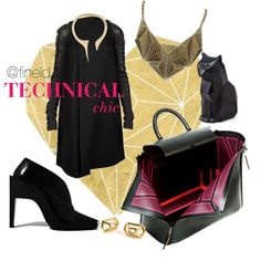 Technical Chic by fineid on Polyvore featuring moda, Rick Owens, Paco Rabanne, Chicnova Fashion and Giuseppe Zanotti