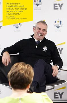 At a recent #EY event in London, Paul McGinley explored the leadership and team-building challenges that he faces as Europe's 2014 Ryder Cup Captain. #RyderCup