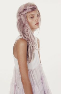The dress. The hair. Lilac