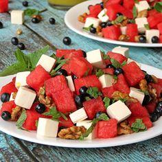 Blueberry Watermelon Feta Salad Recipe