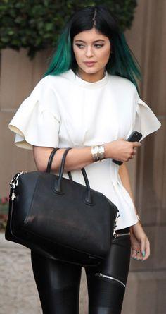 Kylie Jenner carrying a Givenchy Antigona Bag. Price:$2,225