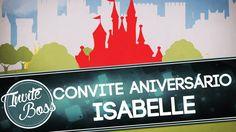 Convite Animado Aniversário Sombra (Princesa Realeza) - Isabelle