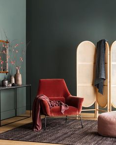 Haymes Paint latest showcases delightful sorbet tones – The Interiors Addict Kitchen – Home Decoration Interior Design Living Room, Interior Decorating, Green Interior Design, Interior Wall Colors, Asian Interior, Interior Photo, Dark Green Walls, Dark Walls, Blue Walls