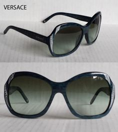 #Versace women sunglasses MOD.4183 made in Italy Blue with crystals visit our ebay store at  http://stores.ebay.com/esquirestore