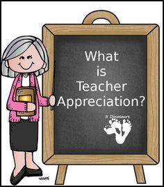 What is Teacher Appreciation? Plus Free Teacher Appreciation Bookmarks - 3Dinosaurs.com