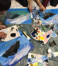 bob-ross-anniversaire-party-peinture-paysage-2