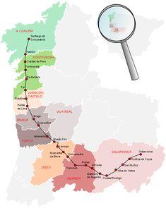 Mapa y distancias | Camino Torres