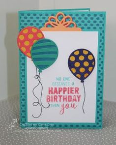 Stampin Up Balloon Adventures stamp set from Occasions 2017 catalogue. Card by Rachel Palmieri from Art with Heart Team Melbourne Australia. Stampin Up classes available Melbourne.