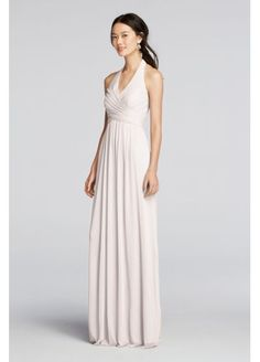 Long Mesh Dress with Halter Straps F19071, also comes in wine, sangria etc