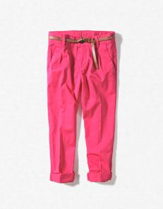 hot pink trousers