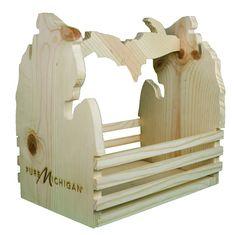 Large Pure Michigan Wood Basket
