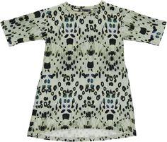 POPUPSHOP SWEAT DRESS / BUTTERFLY LEOPARD MOTH