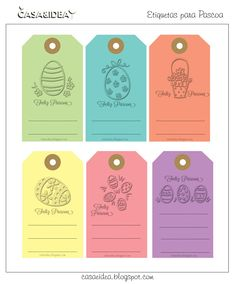 clic de ideias: ou mais free printables para a Páscoa} by Virg. Easter Party, Tole Painting, E Cards, Silhouette Projects, Easter Crafts, Happy Easter, Scrapbook Paper, Gift Tags, Free Printables