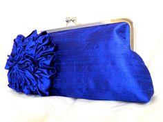 Cobalt blue clutch... too cute!