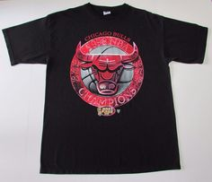 62cf4bcd8b01 Chicago Bulls Tour Champions 91 92 93 96 97 98 NBA T Shirt SIZE LARGE EUC