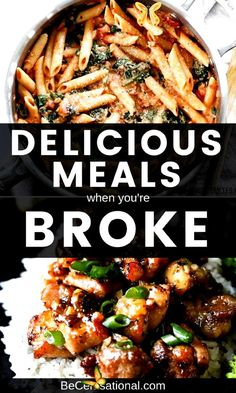 Food makes up a lot of our budgets. But what do you do when money is really tight? Eating on a budget doesnt have to suck! Here are some tasty and delicious breakfast, lunch and dinner recipes that you can make on a budget. #easy healthy recipes<br> Good Healthy Recipes, Healthy Meal Prep, Healthy Dinner Recipes, Eat On A Budget, Tasty, Yummy Food, Recipes For Beginners, Lunches And Dinners, Family Meals