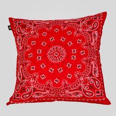 upper-playground - Bandana Pillow in Red/White