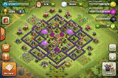 clash of clans th8 trophy base | Now this is MY VERY OWN Clash Of Clans HD Background picture! So ...