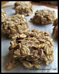 Almost Two-Ingredient Cookies.   Healthy & a great treat for kids on the go!