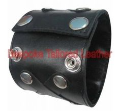 """#Leather_Wristband_With_Rivets This 10 inch #leather_wristband Made From Real Cow Nappa and adjustable to two sizes & fits wrist 7 to 8.25 inches 2.75"""" Wide"""