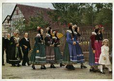 Katholische Tracht, Schröck, um 1964  #Marburg #katholisch